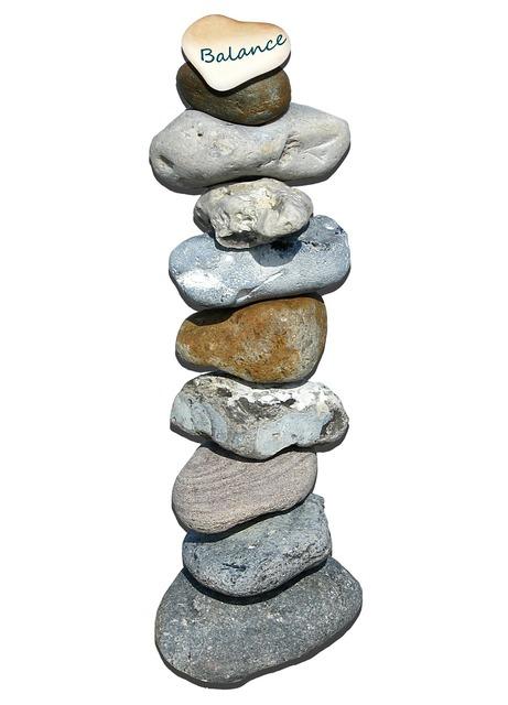 Stones tower layered.