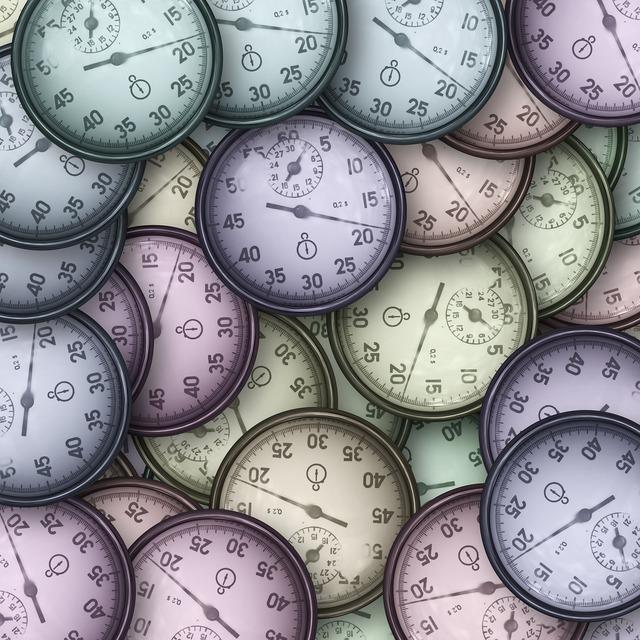Stopwatch clock many.