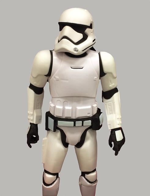 Storm trooper star wars helmet.