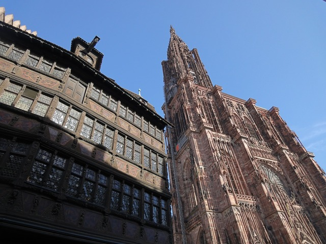Strasbourg cathedral house, architecture buildings.