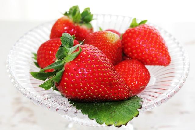Strawberries fruit red, food drink.