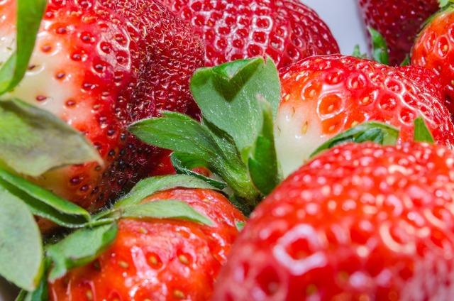 Strawberries fruit tasty, food drink.