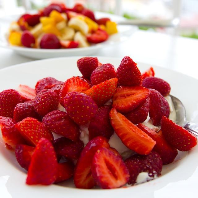 Strawberries midsummer dessert.