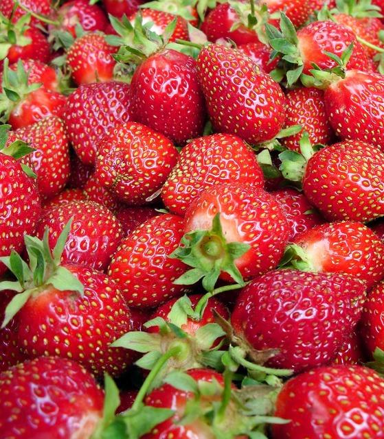 Strawberries red summer, food drink.
