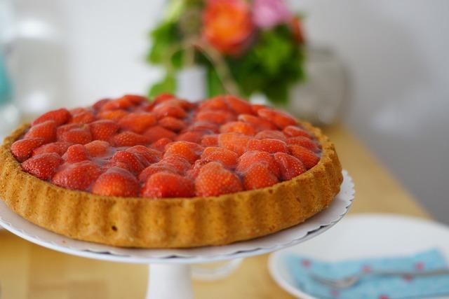 Strawberry cake summer.