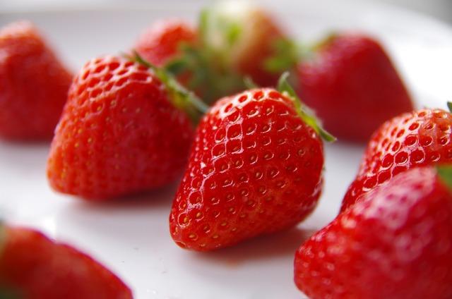 Strawberry fruit fresh, food drink.