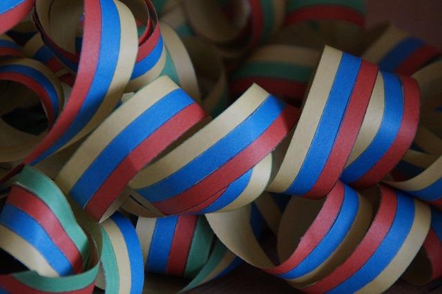 Streamer celebration festival, backgrounds textures.