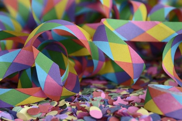 Streamer confetti carnival, backgrounds textures.