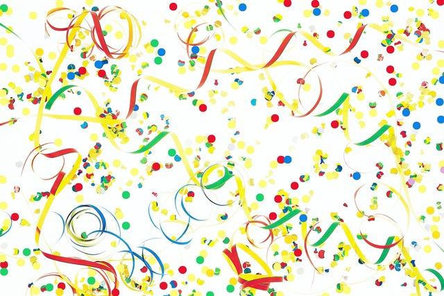 Streamer confetti decoration.