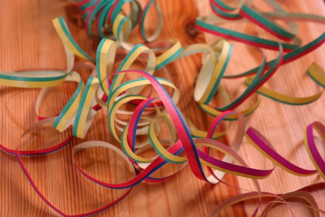 Streamer decoration colorful.