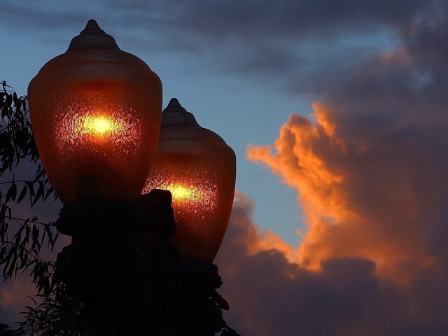 Street lamp light lamp, travel vacation.