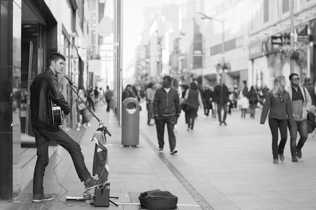 Street performer musician music, music.
