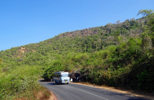 Street road uphill, transportation traffic.