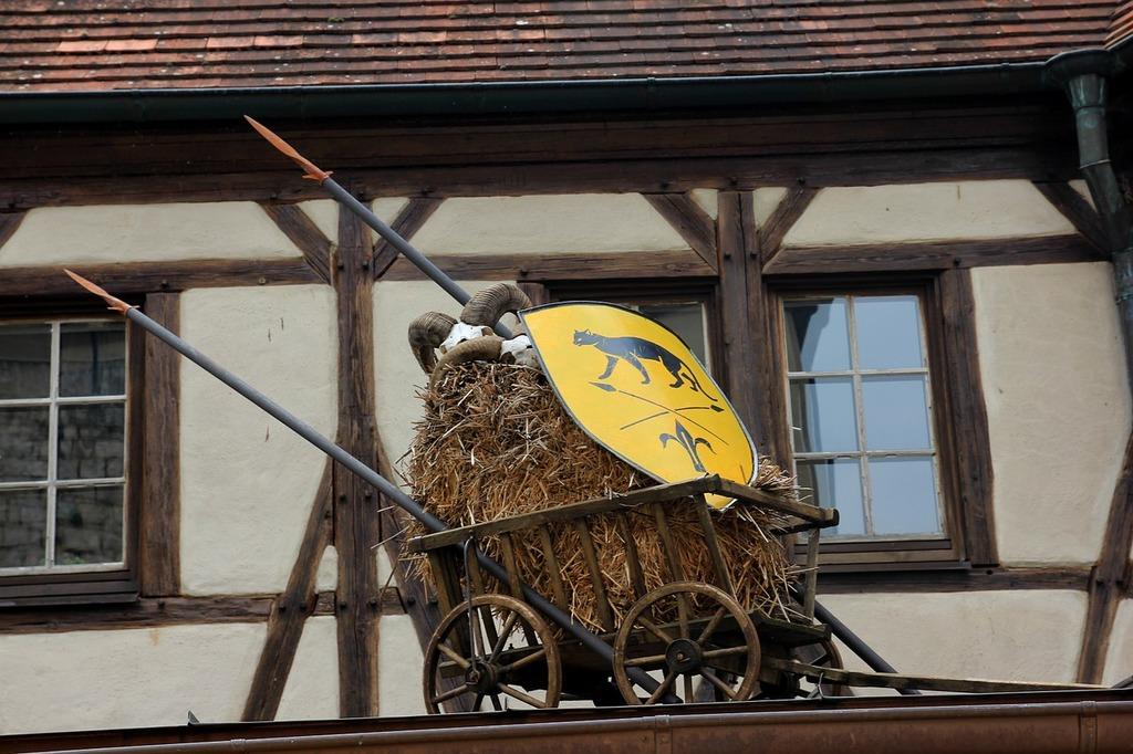 Stroller dare hay wagon.