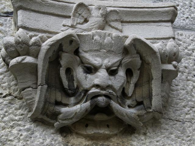 Stucco fresco stone masonry.