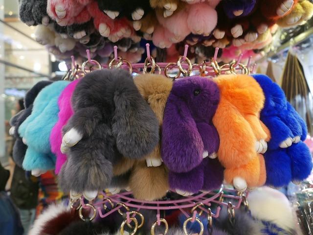 Stuffed animal bunny fluffy.