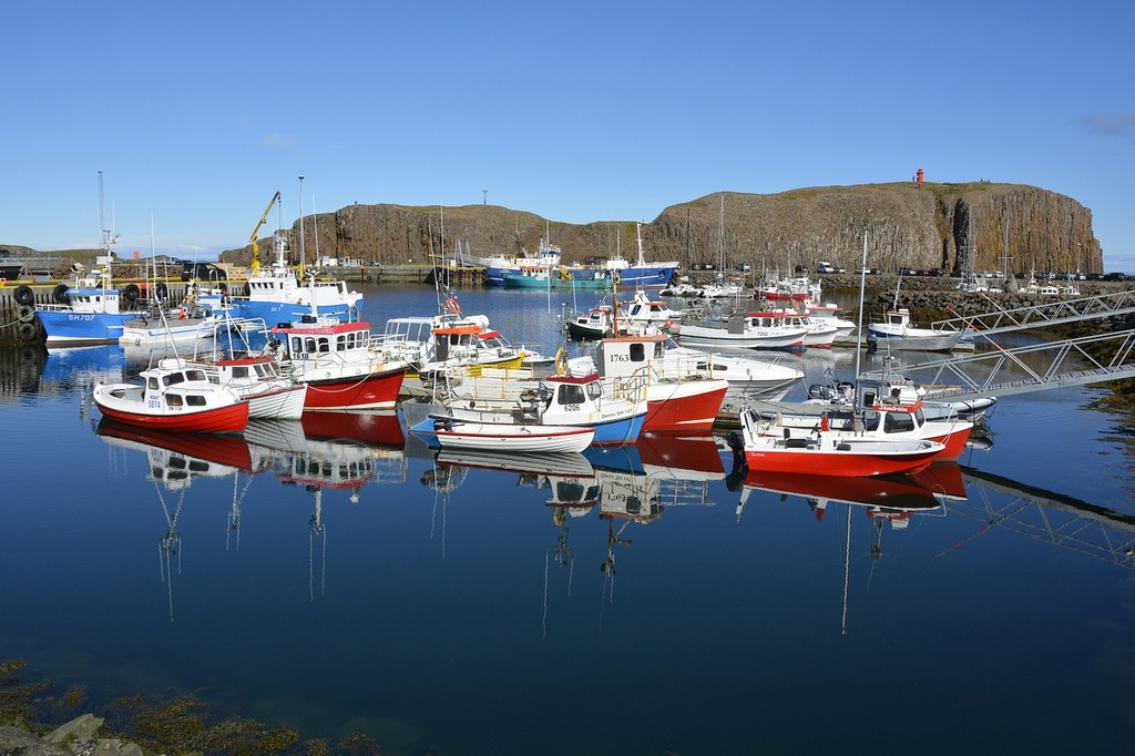 Stykkishólmur port ships.