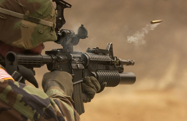 Submachine gun rifle automatic weapon.