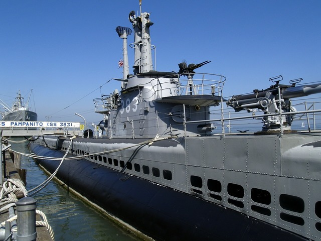 Submarine marine warship, travel vacation.