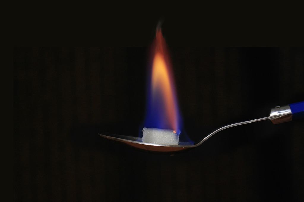 Sugar spoon fire.