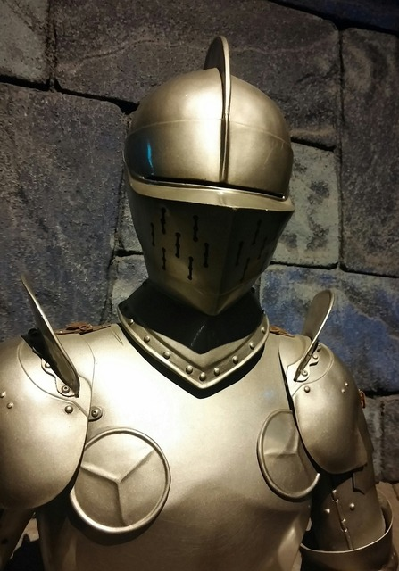 Suit of armour medieval king arthur.