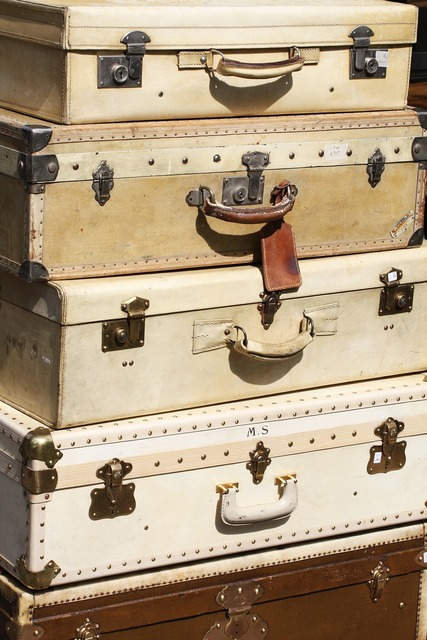 Suitcases traveling france.