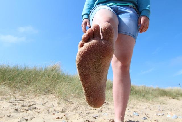 Summer beach sand, travel vacation.