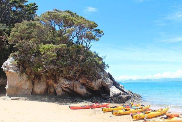 Summer beach stone, travel vacation.
