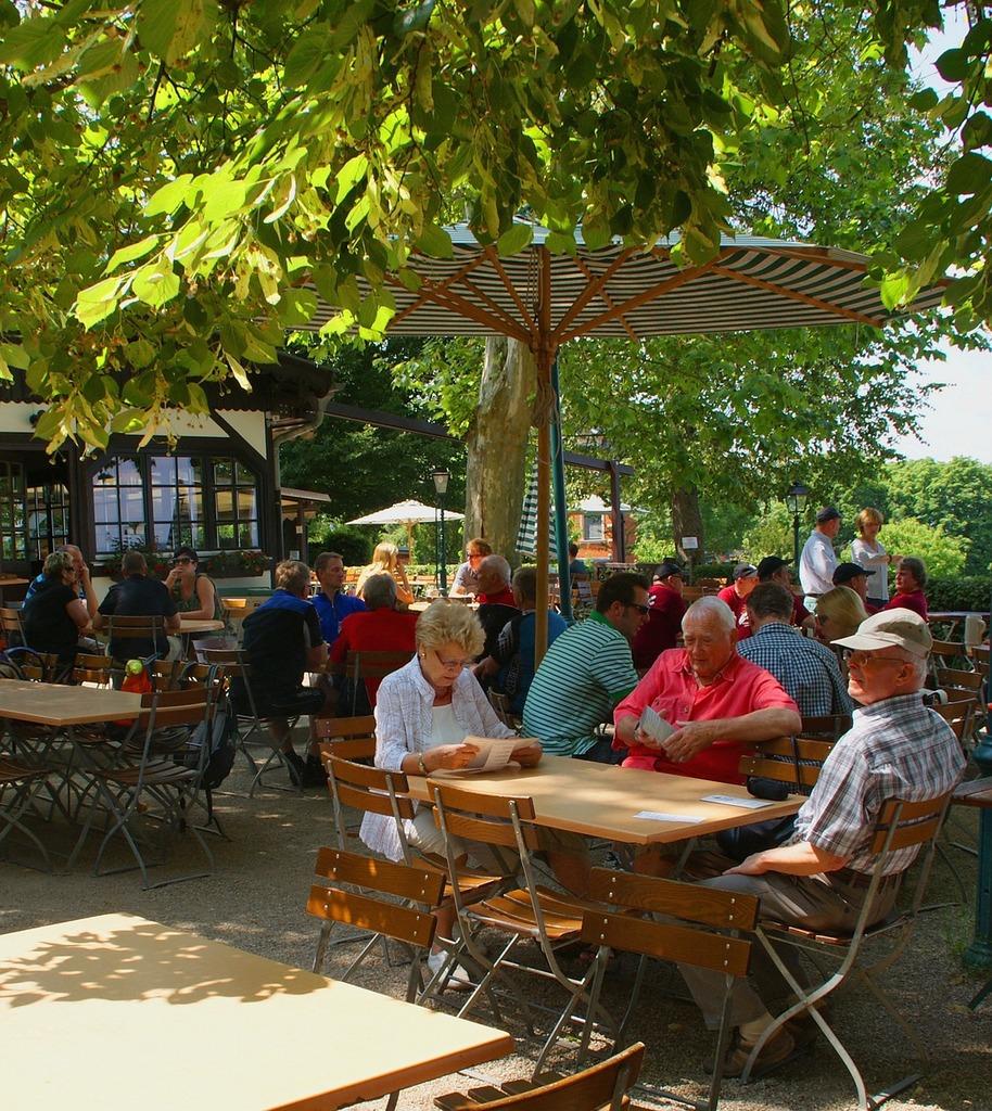 Summer beer garden celebrate.