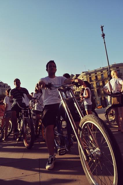 Summer bike people, people.