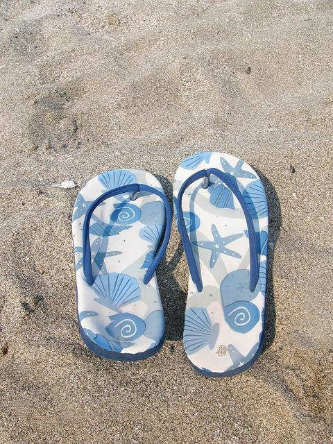 Summer flip-flop flip-flops, travel vacation.