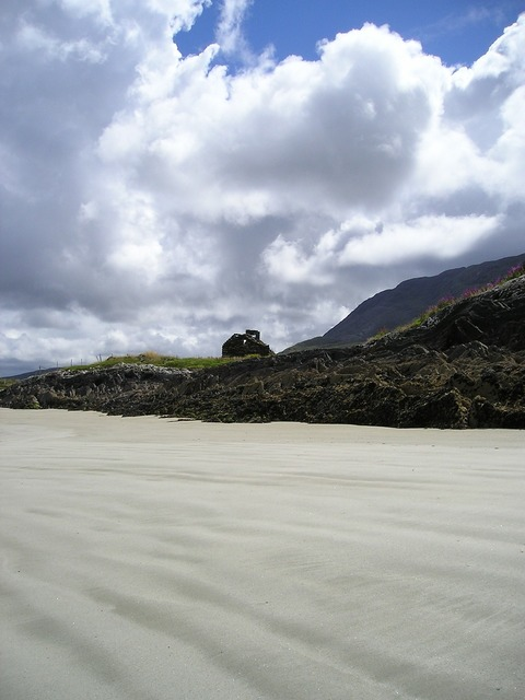 Summer ireland beach, travel vacation.