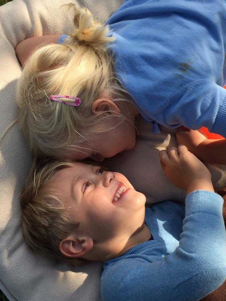 Summer preschoolers best friends.