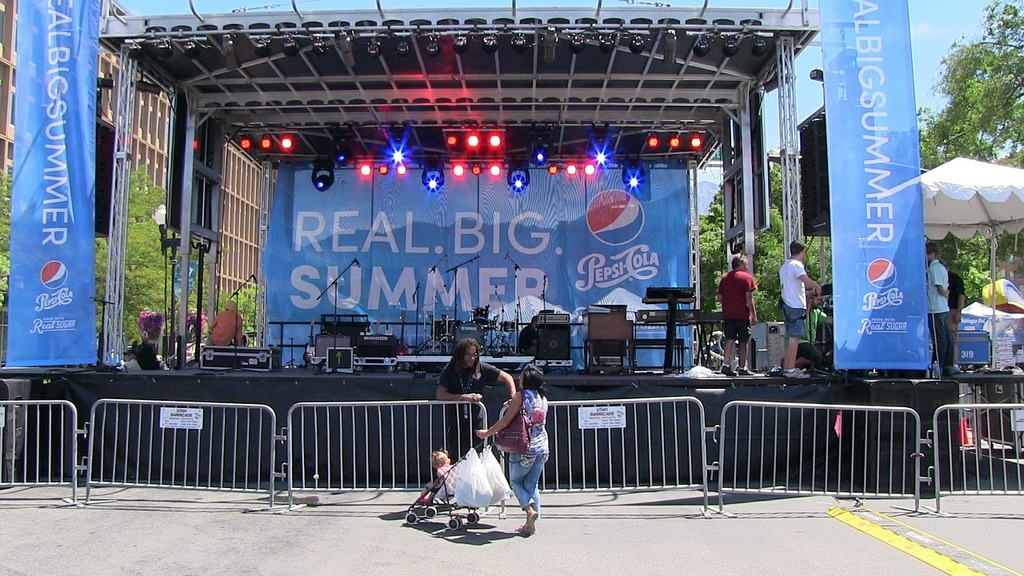 Summer stage event, music.