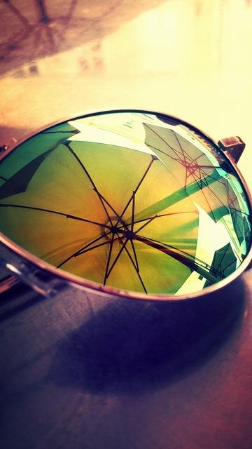Summer sunglasses parasol.