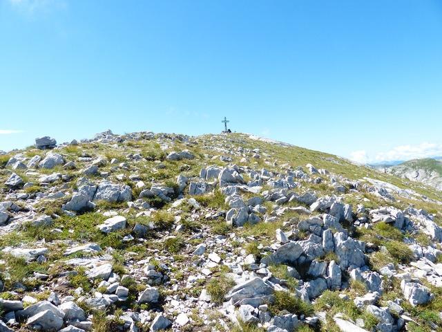 Summit cross cima della saline mountain, nature landscapes.