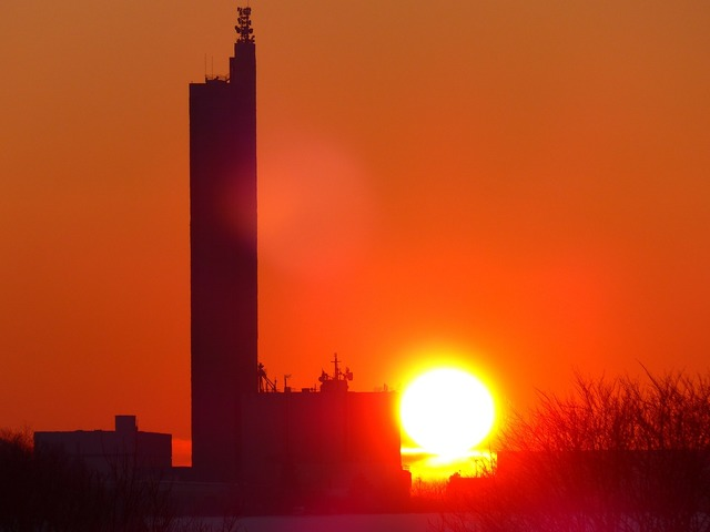 Sun fireball sunset, travel vacation.