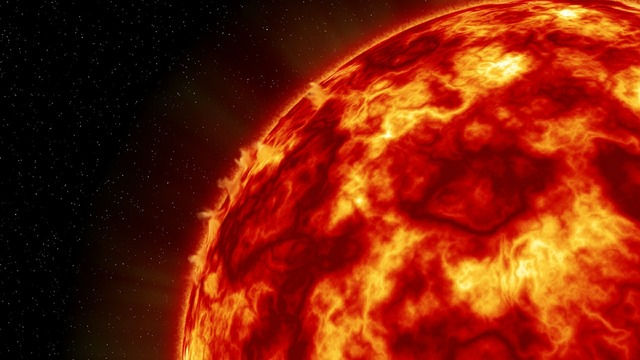 Sun heat planet.
