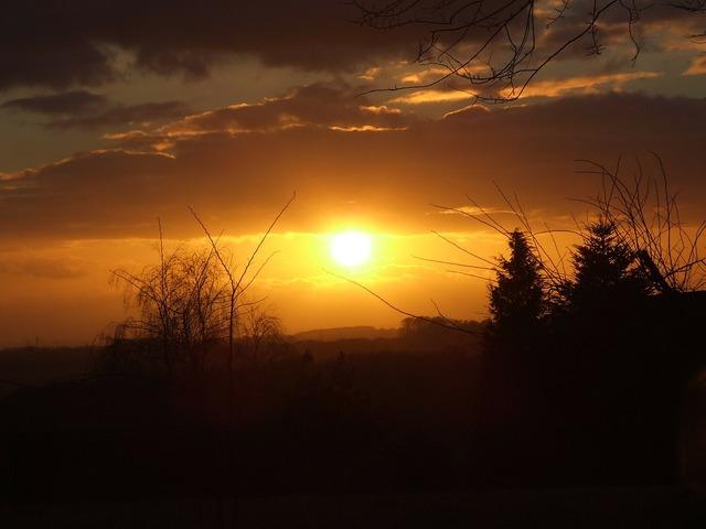 Sun sunset evening sky, travel vacation.