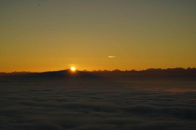 Sunrise tödi alpine, nature landscapes.