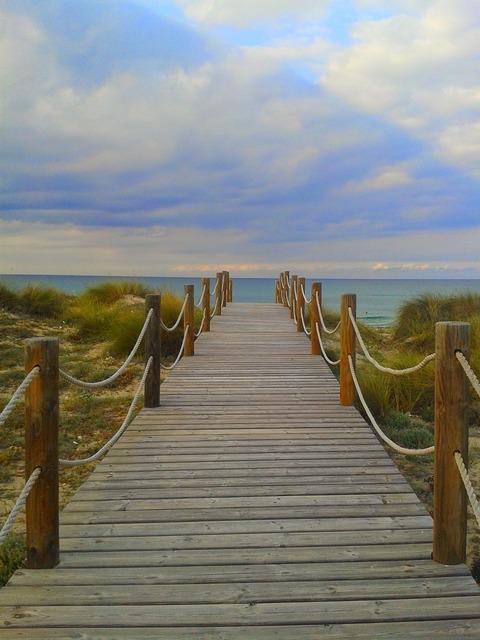 Sunset calm sea, travel vacation.