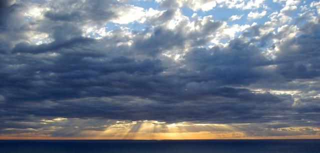 Sunset rays sun, travel vacation.