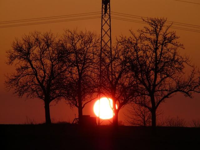 Sunset sun fireball, travel vacation.