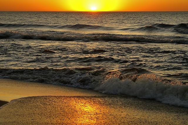 Sunset the sun sky, travel vacation.