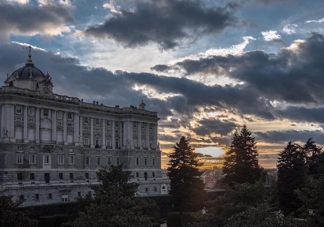 Sunset wallpaper palace, travel vacation.