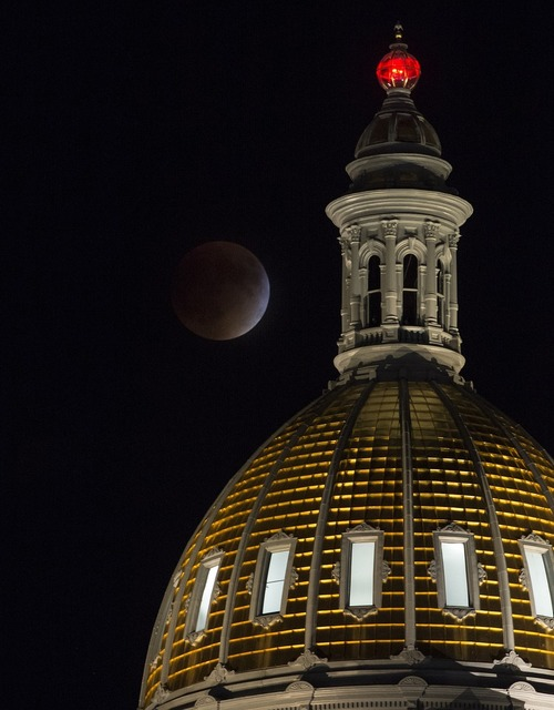 Supermoon full perigee, architecture buildings.