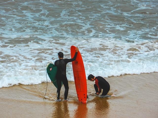 Surf beach summer, travel vacation.