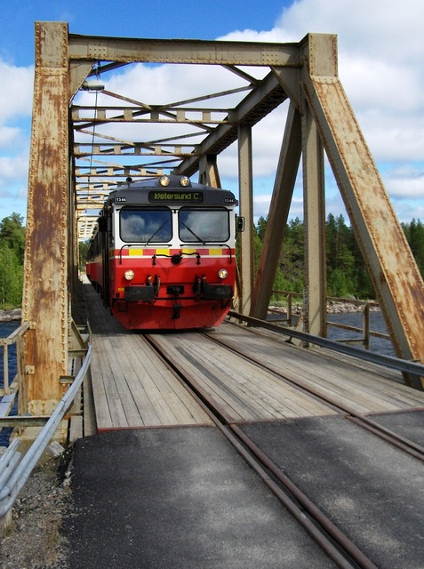 Sweden inland railway railway bridge.
