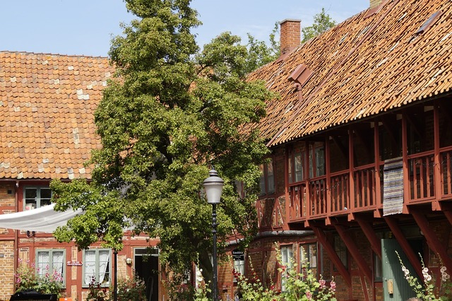 Sweden ystad historically, architecture buildings.