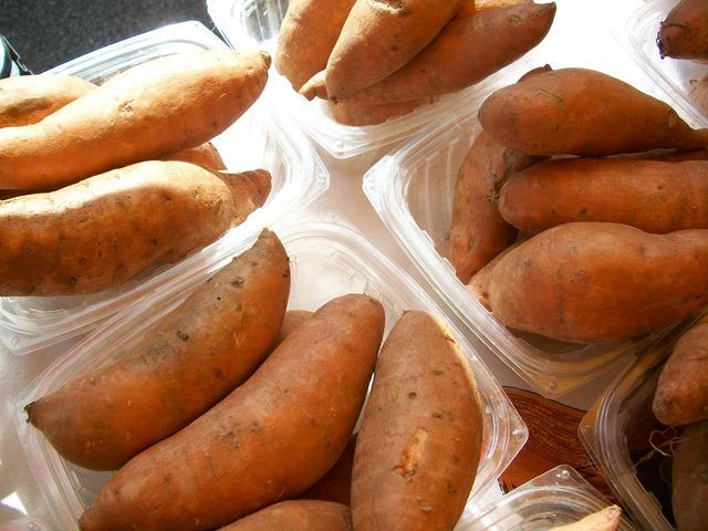 Sweet-potatoes yams vegetables.